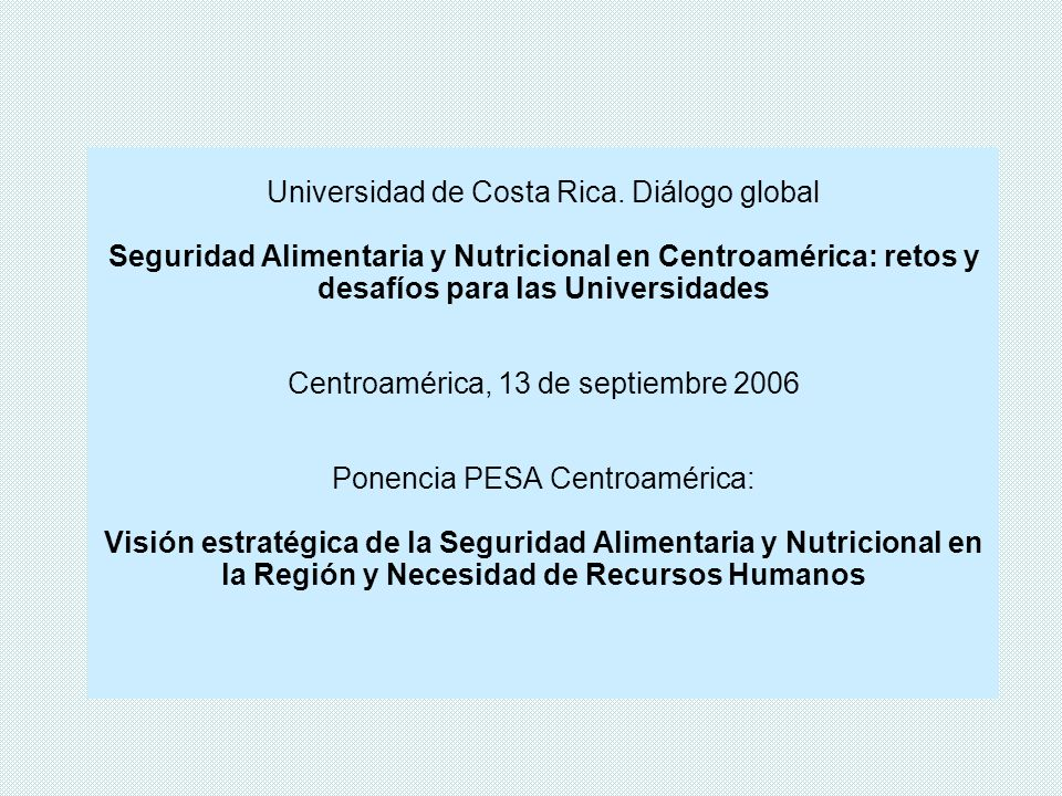 Universidad de Costa Rica. Diálogo global