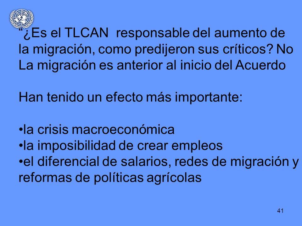¿Es el TLCAN responsable del aumento de la migración, como predijeron sus críticos No