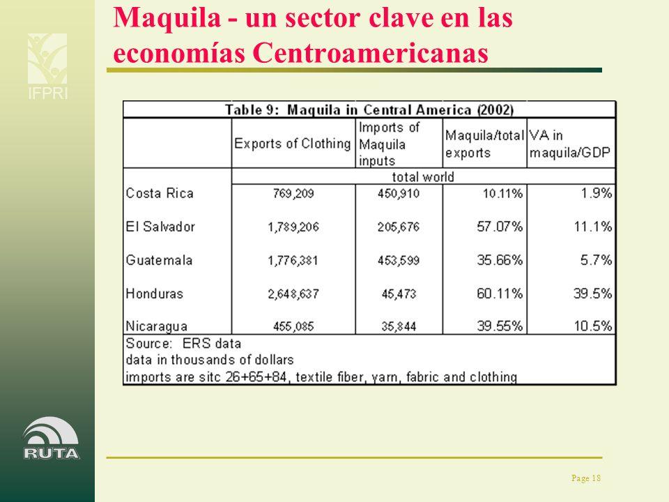 Maquila - un sector clave en las economías Centroamericanas