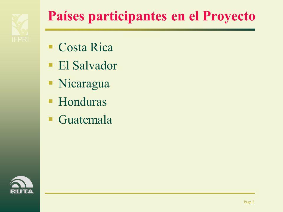Países participantes en el Proyecto