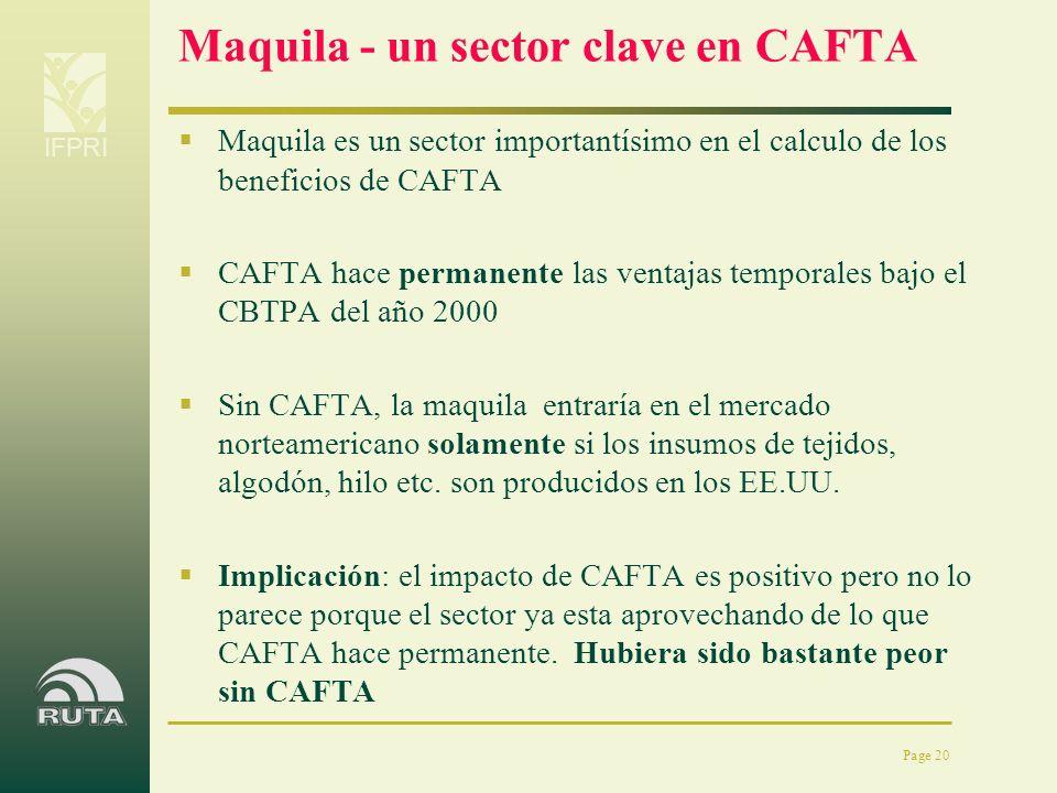 Maquila - un sector clave en CAFTA