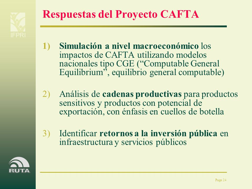 Respuestas del Proyecto CAFTA
