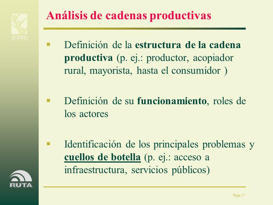 Análisis de cadenas productivas