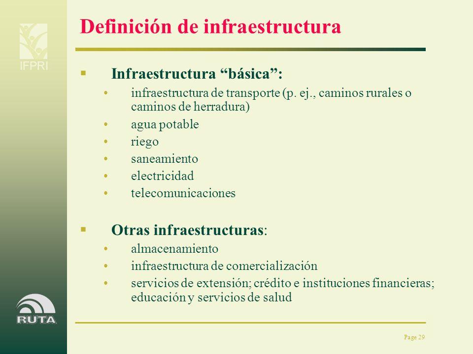 Definición de infraestructura
