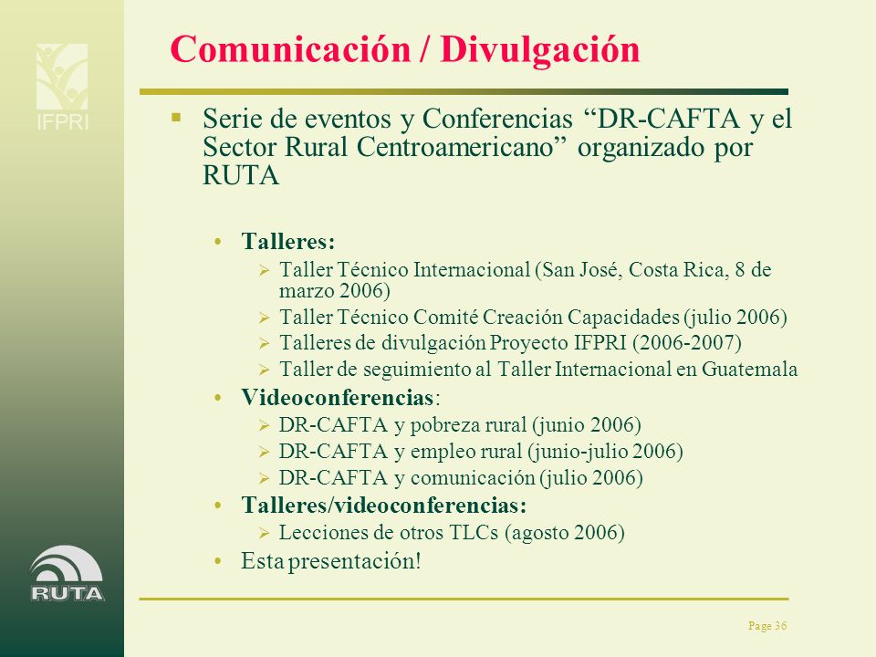 Comunicación / Divulgación