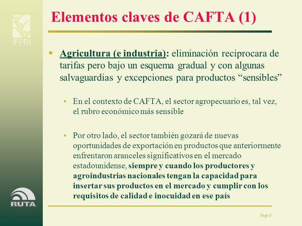 Elementos claves de CAFTA (1)