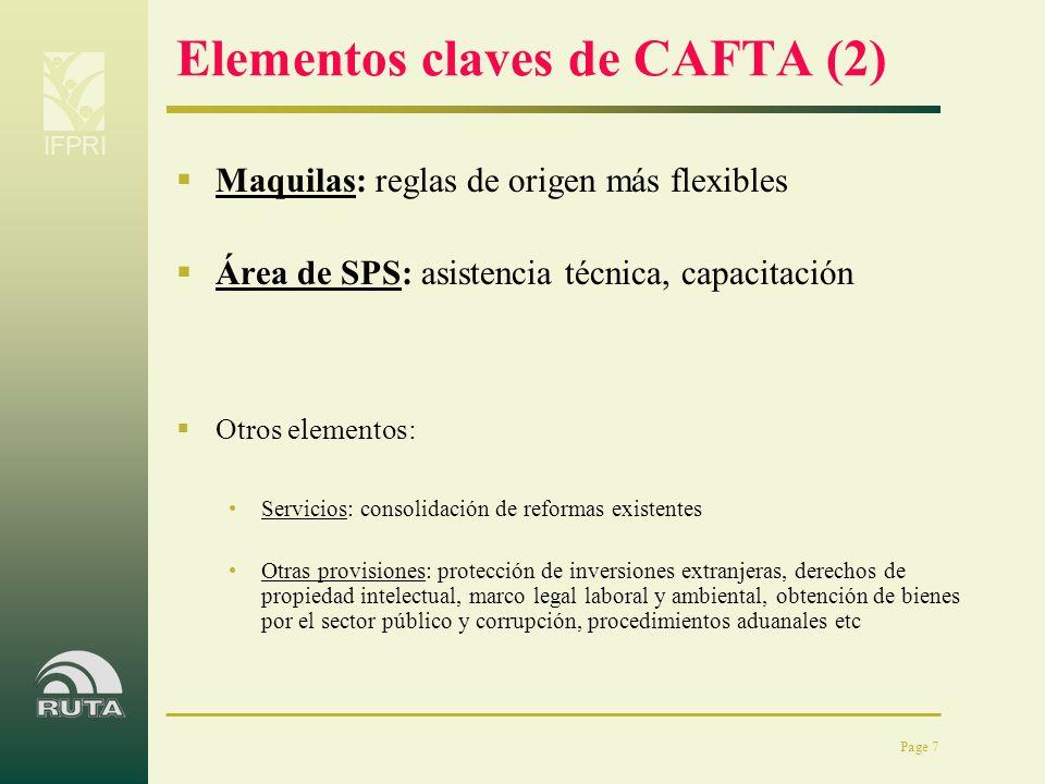 Elementos claves de CAFTA (2)
