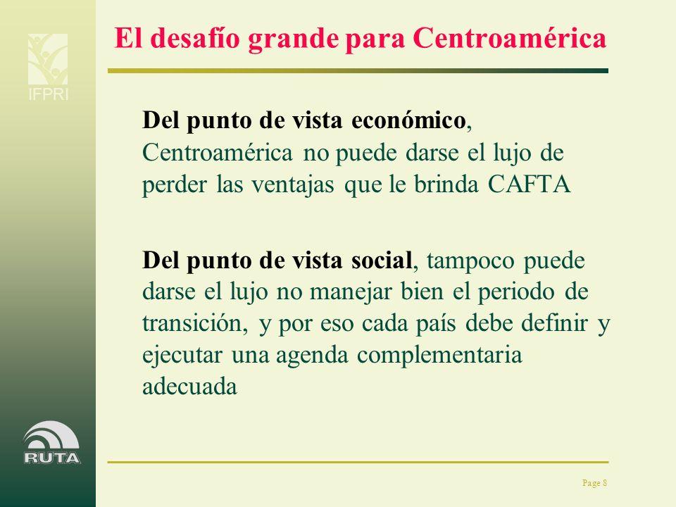 El desafío grande para Centroamérica