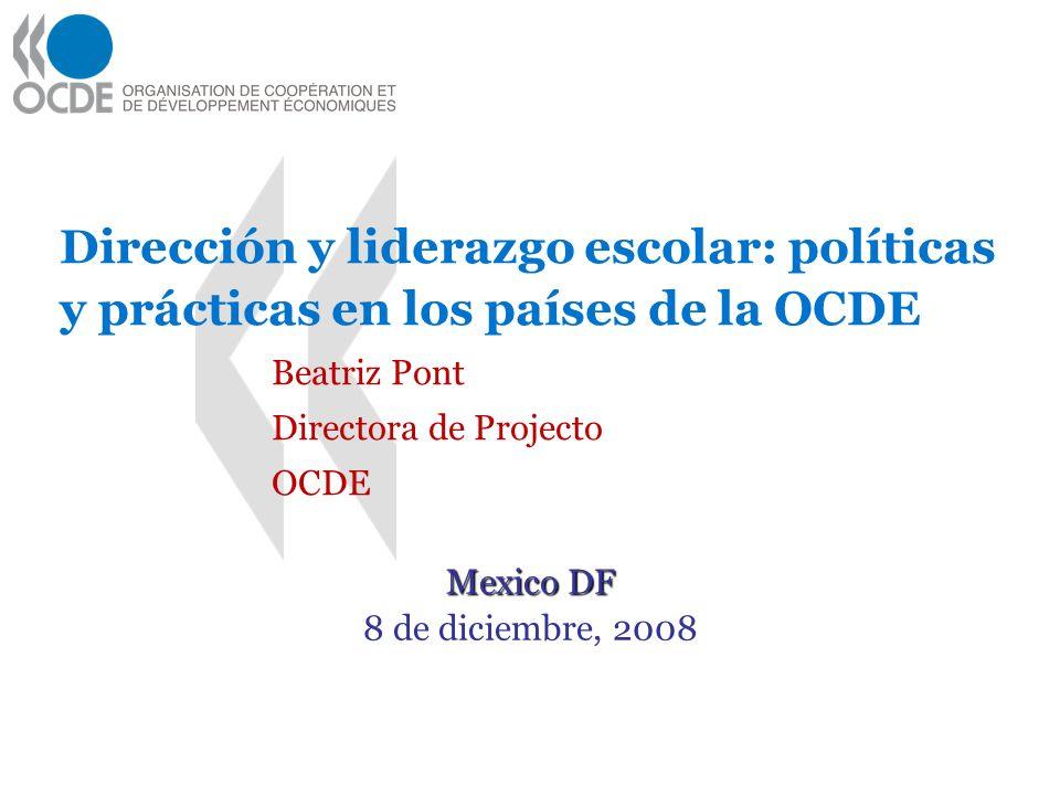 Directora de Projecto OCDE Mexico DF 8 de diciembre, 2008