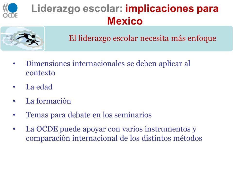 Liderazgo escolar: implicaciones para Mexico