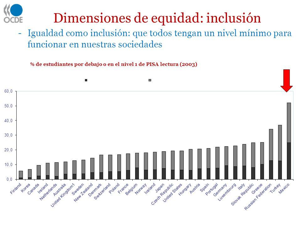 Dimensiones de equidad: inclusión