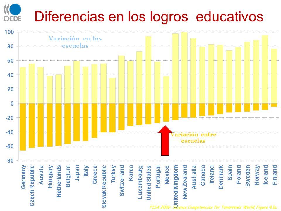 Diferencias en los logros educativos