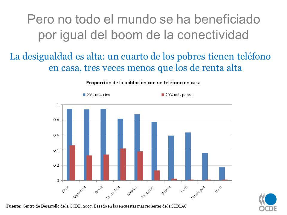 Pero no todo el mundo se ha beneficiado por igual del boom de la conectividad