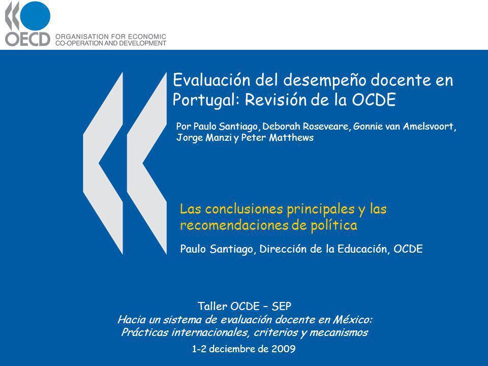 Evaluación del desempeño docente en Portugal: Revisión de la OCDE