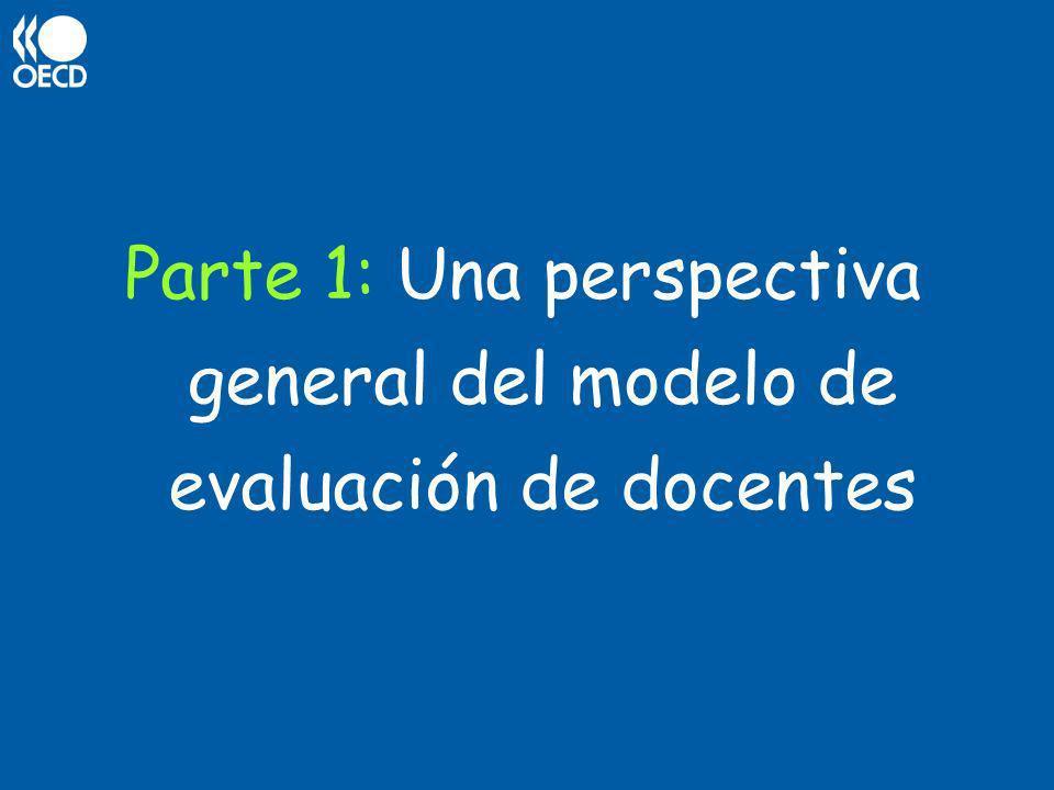 Parte 1: Una perspectiva general del modelo de evaluación de docentes