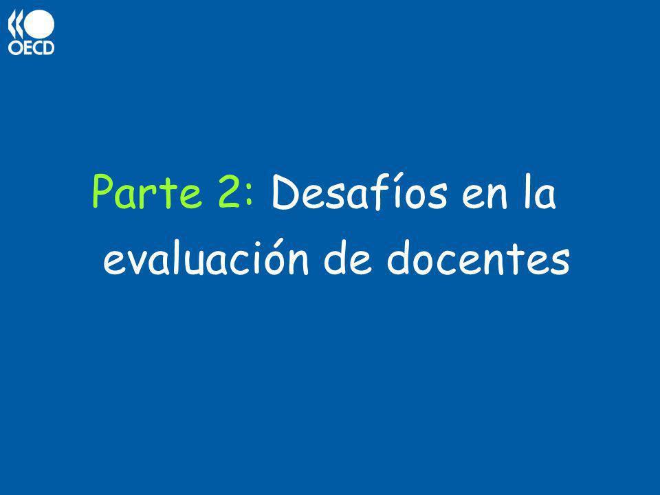 Parte 2: Desafíos en la evaluación de docentes