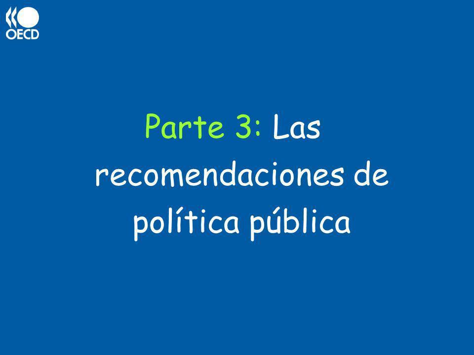 Parte 3: Las recomendaciones de política pública
