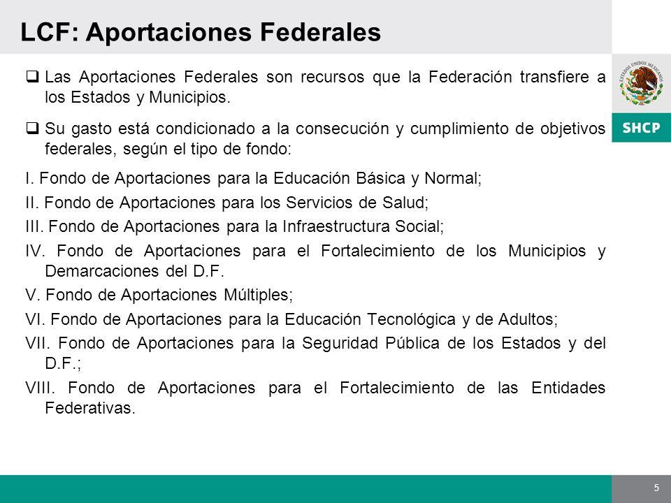 LCF: Aportaciones Federales