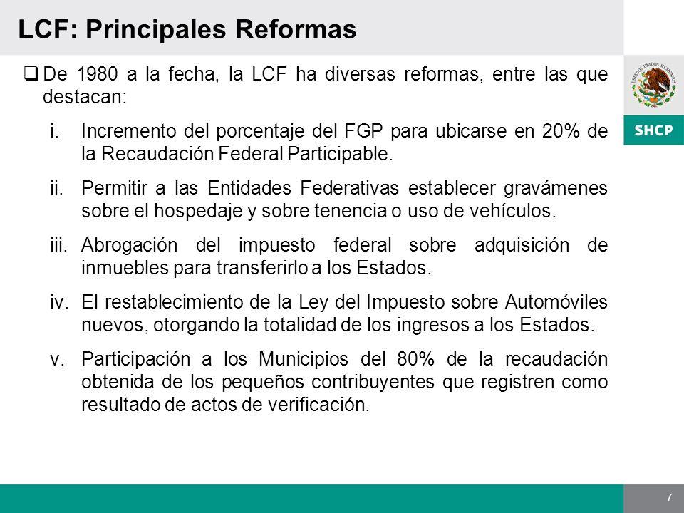 LCF: Principales Reformas