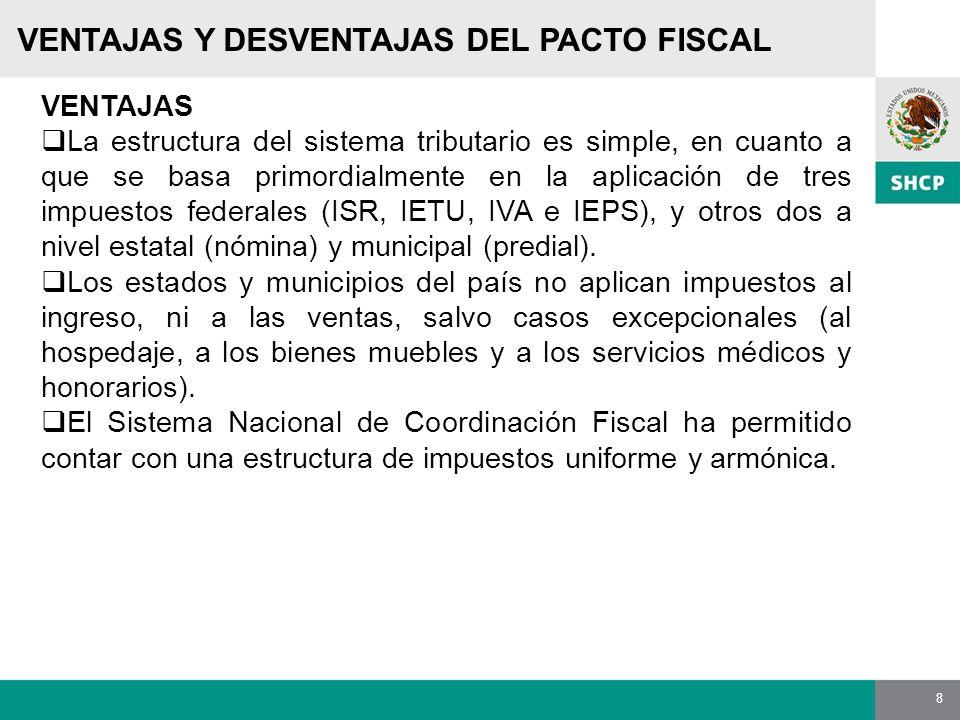 VENTAJAS Y DESVENTAJAS DEL PACTO FISCAL