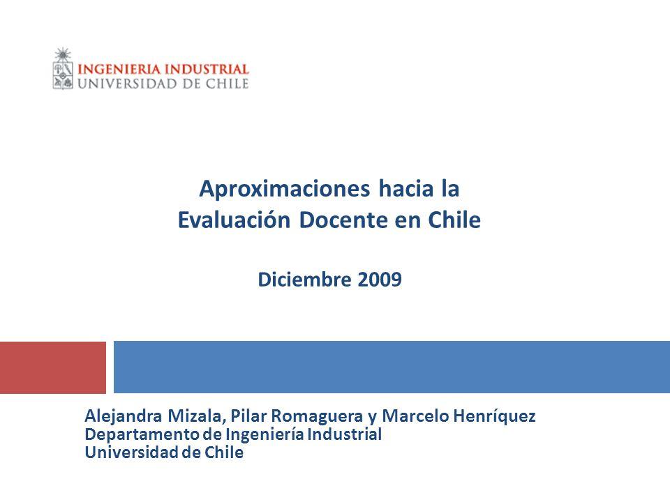 Aproximaciones hacia la Evaluación Docente en Chile