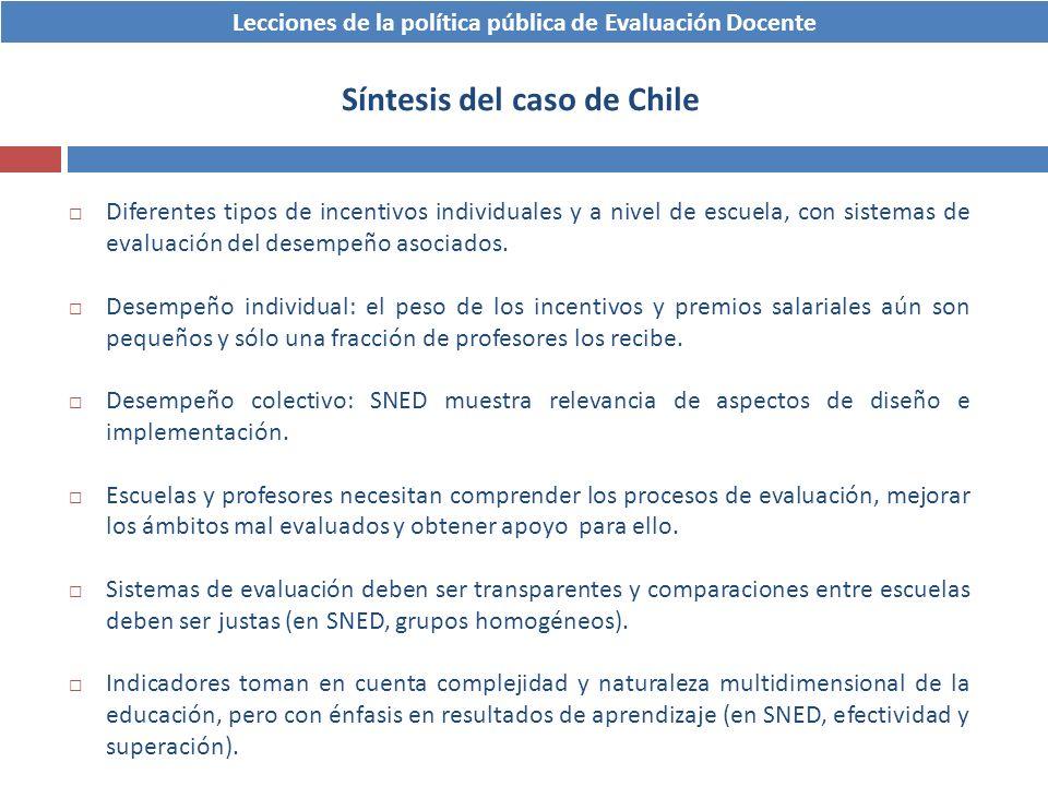 Síntesis del caso de Chile