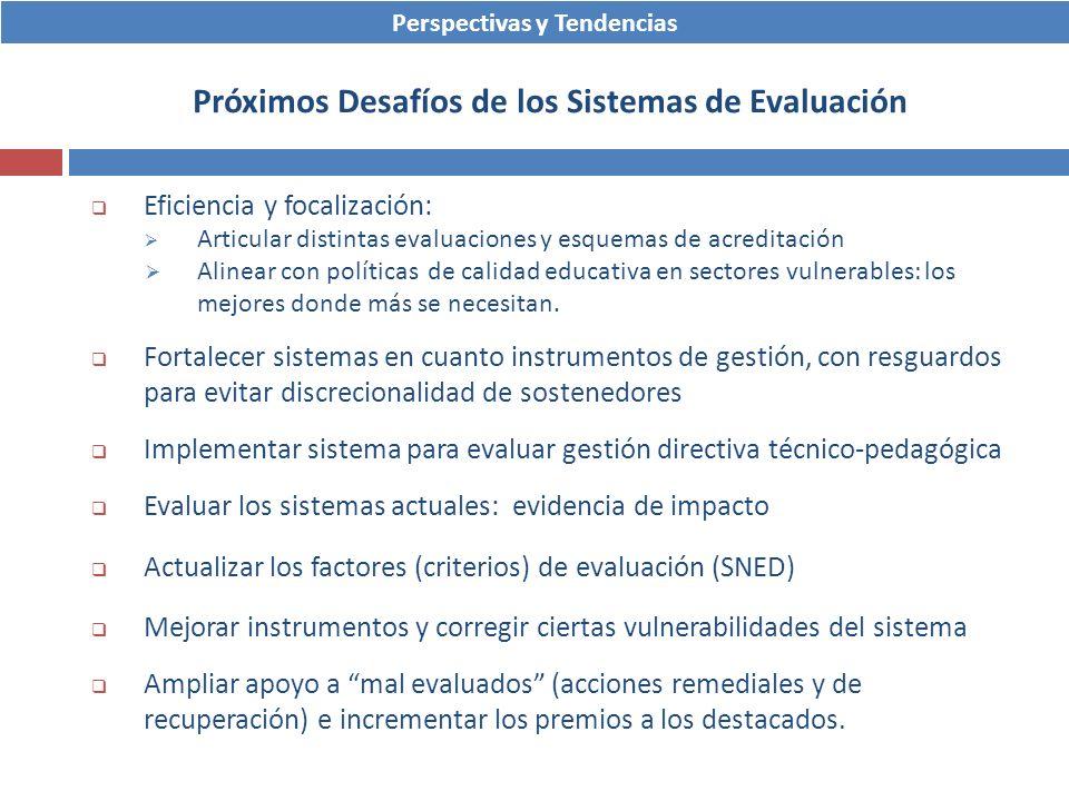 Próximos Desafíos de los Sistemas de Evaluación