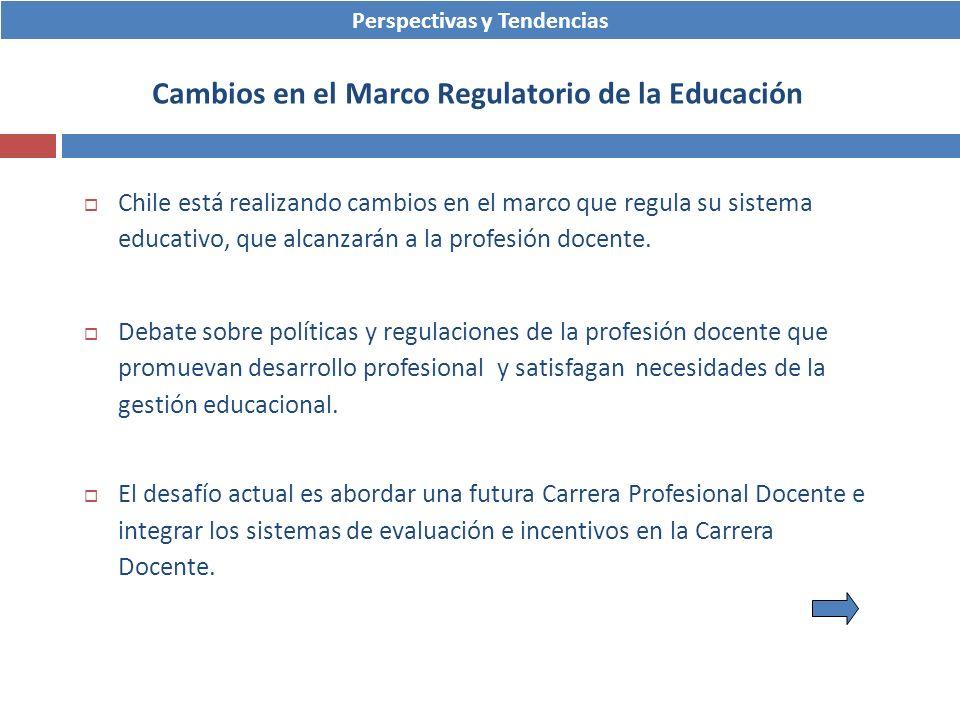 Cambios en el Marco Regulatorio de la Educación