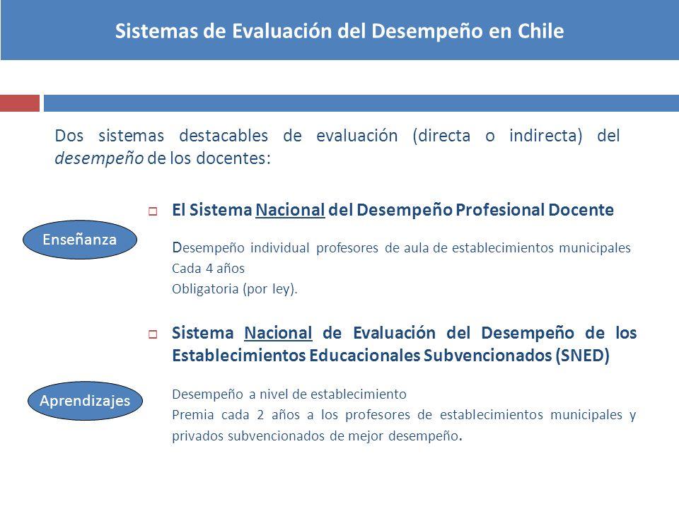 Sistemas de Evaluación del Desempeño en Chile