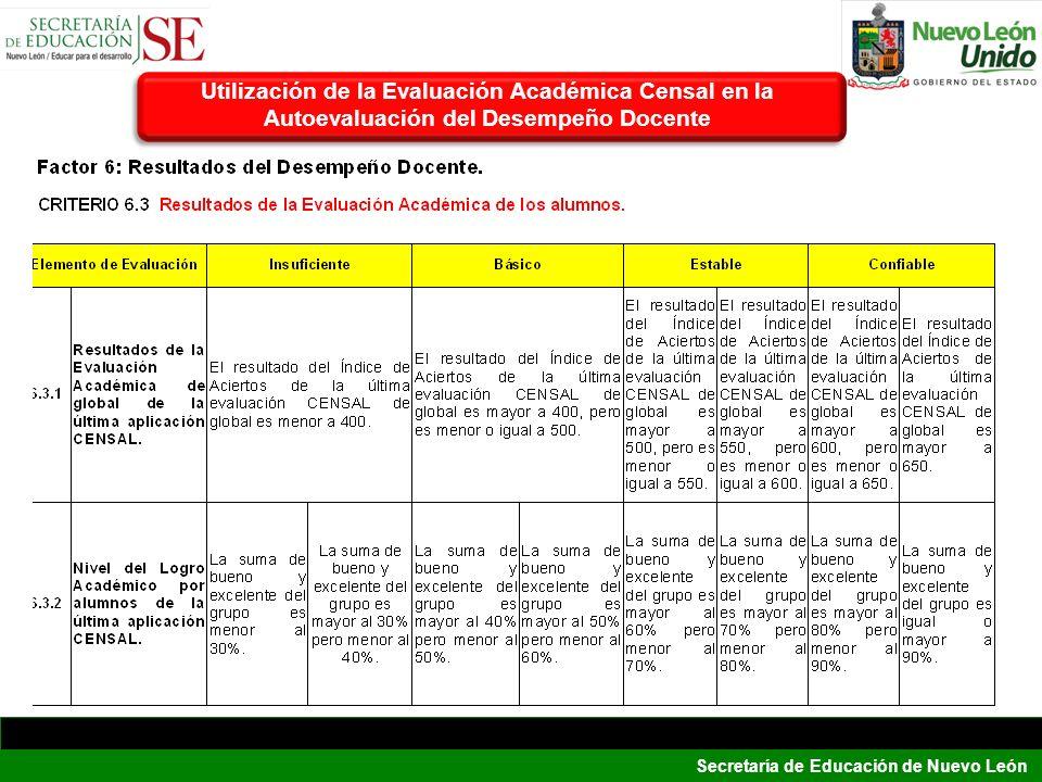 Utilización de la Evaluación Académica Censal en la Autoevaluación del Desempeño Docente