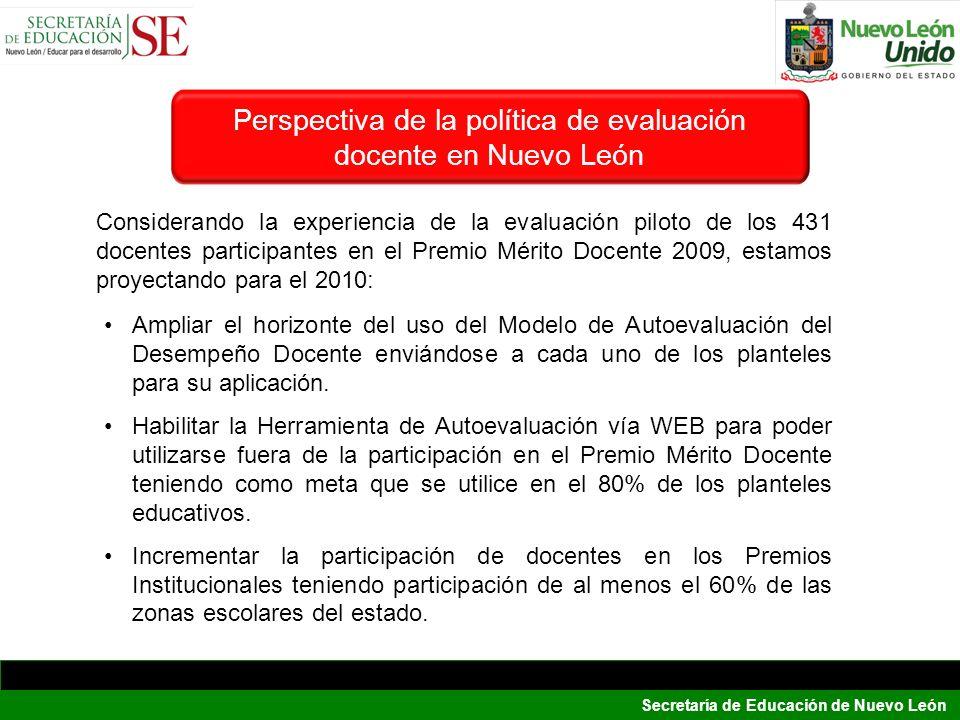 Perspectiva de la política de evaluación docente en Nuevo León
