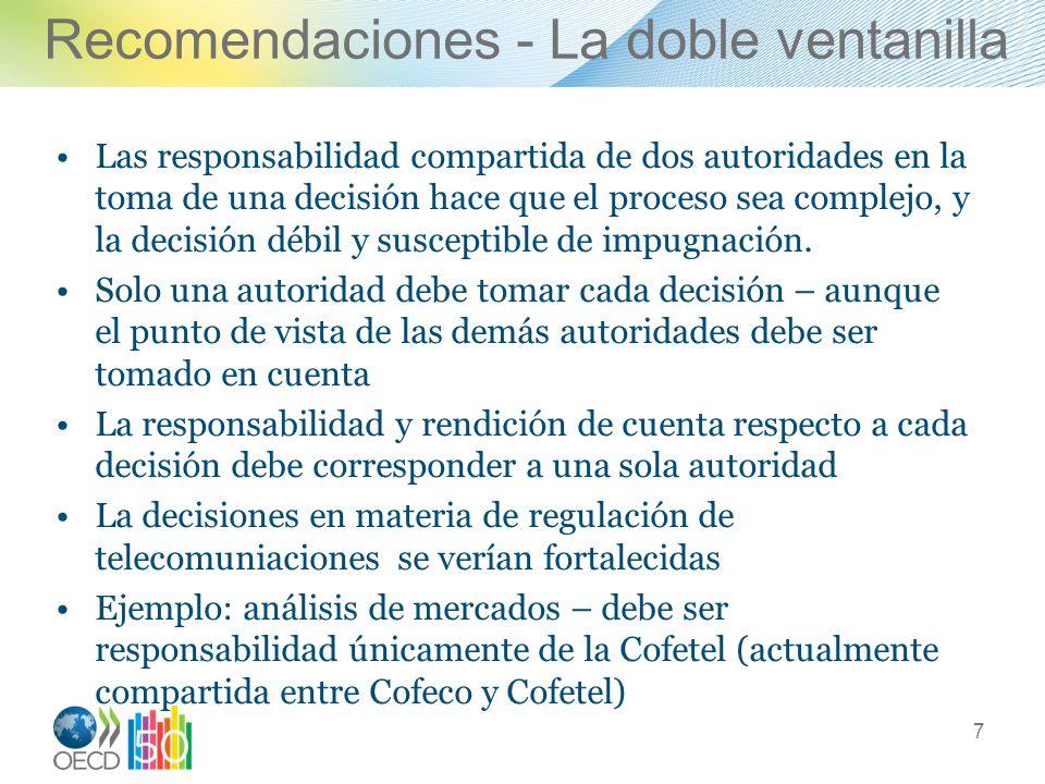 Recomendaciones - La doble ventanilla