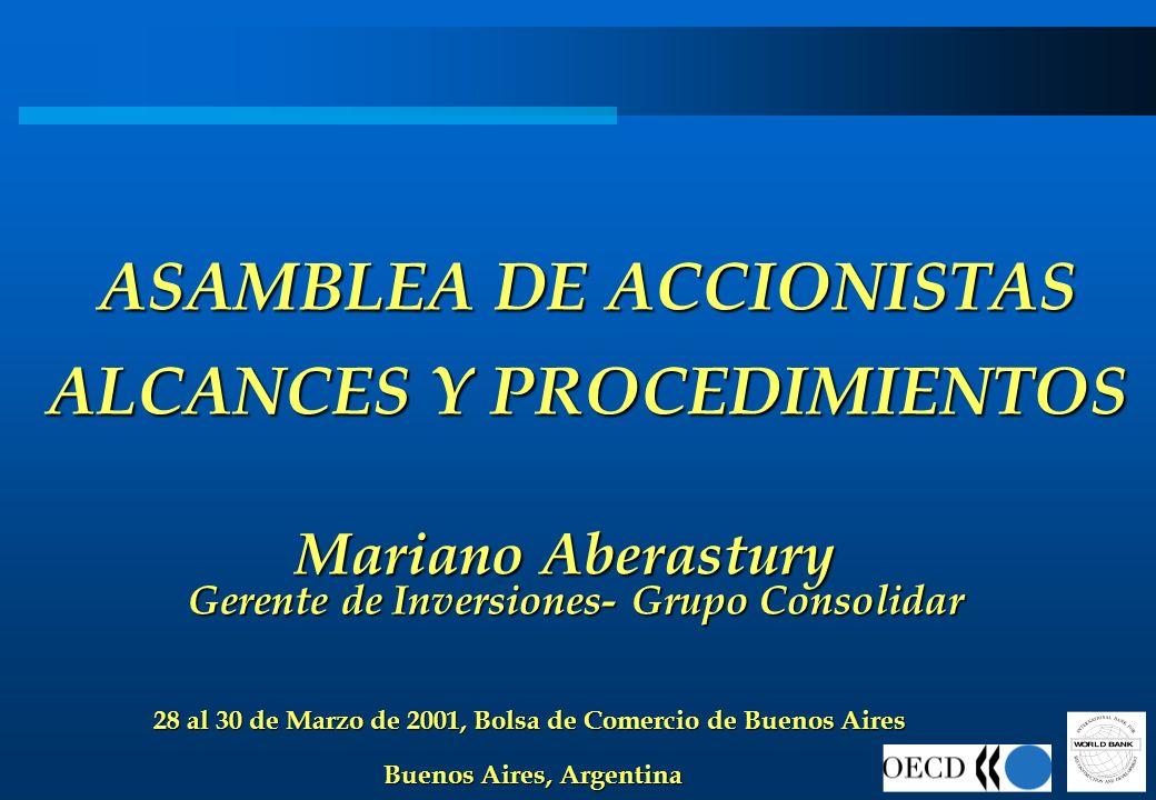 ASAMBLEA DE ACCIONISTAS ALCANCES Y PROCEDIMIENTOS