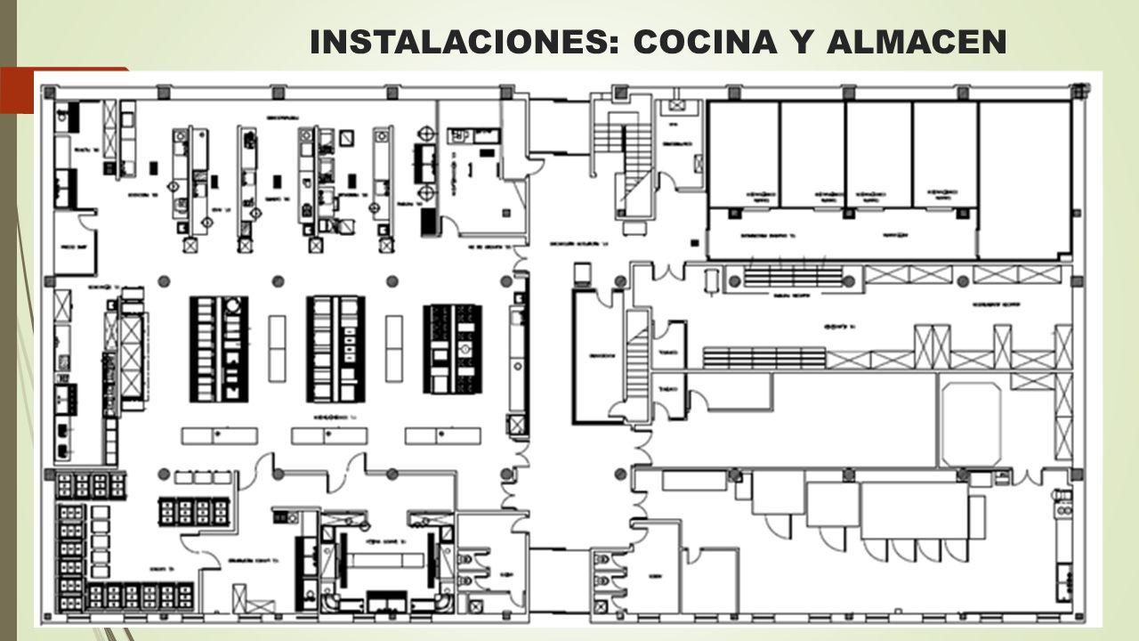 INSTALACIONES: COCINA Y ALMACEN
