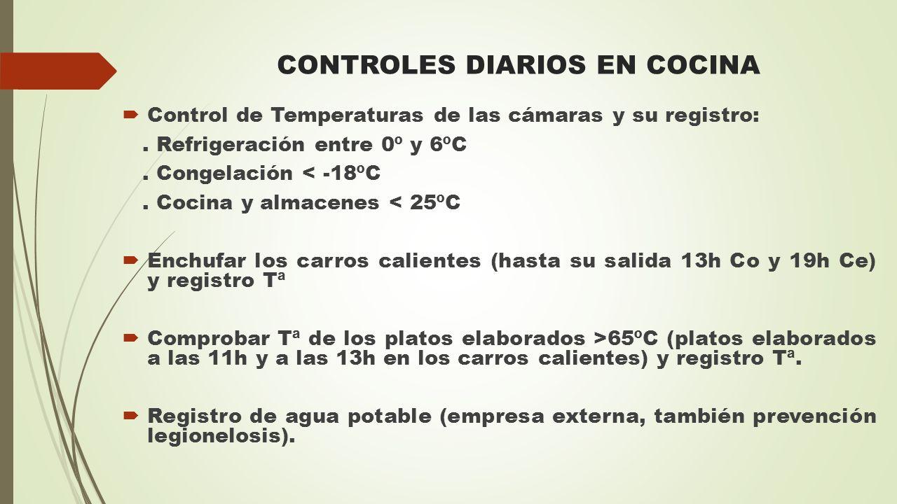 CONTROLES DIARIOS EN COCINA