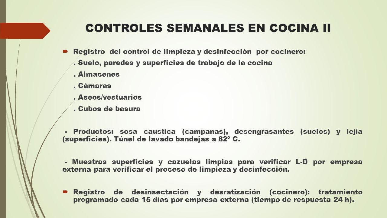 CONTROLES SEMANALES EN COCINA II