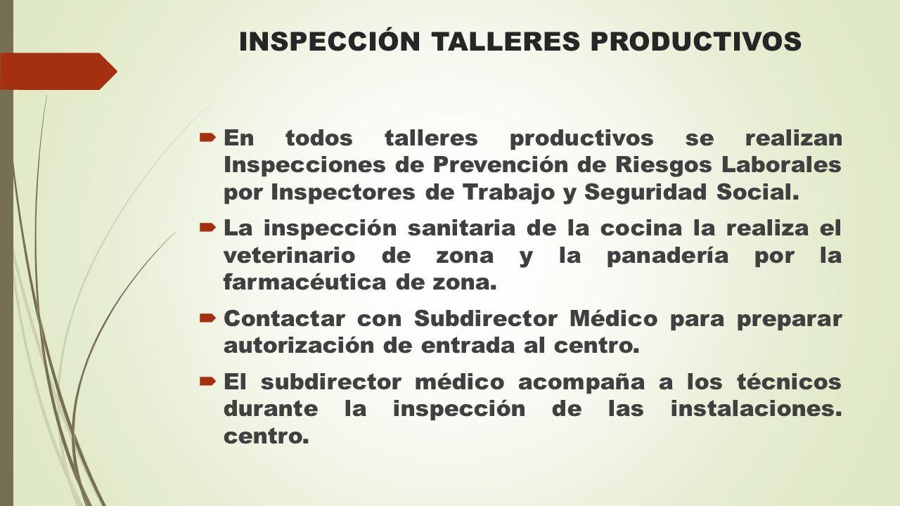 INSPECCIÓN TALLERES PRODUCTIVOS