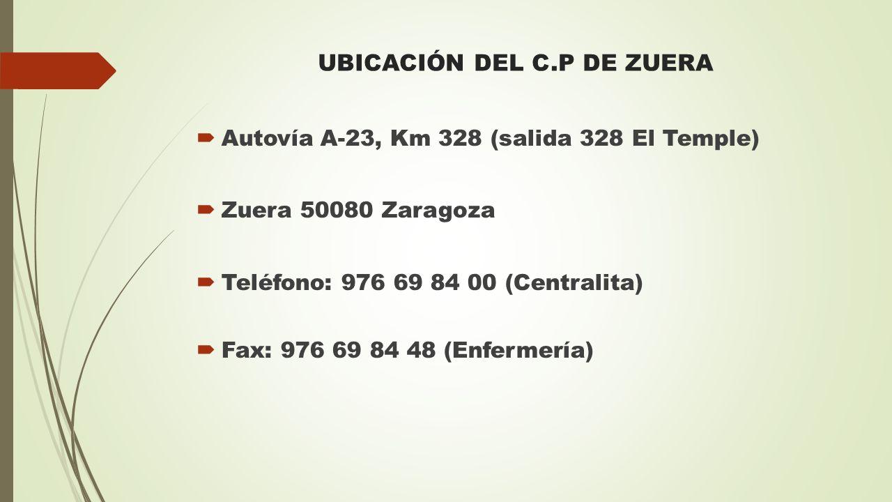 UBICACIÓN DEL C.P DE ZUERA