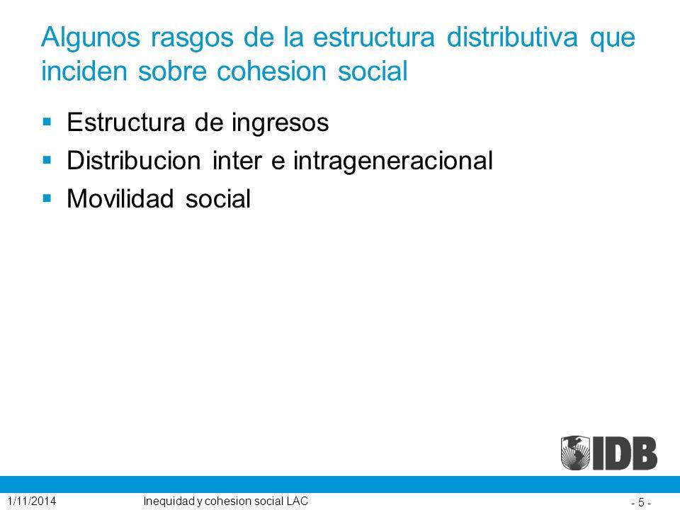 Algunos rasgos de la estructura distributiva que inciden sobre cohesion social