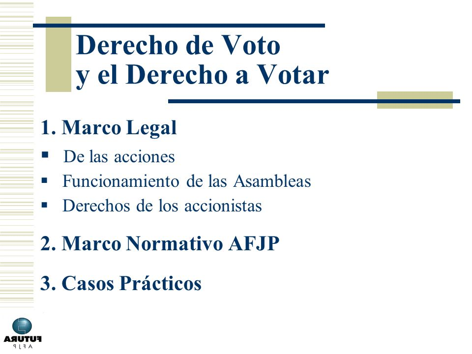 Derecho de Voto y el Derecho a Votar