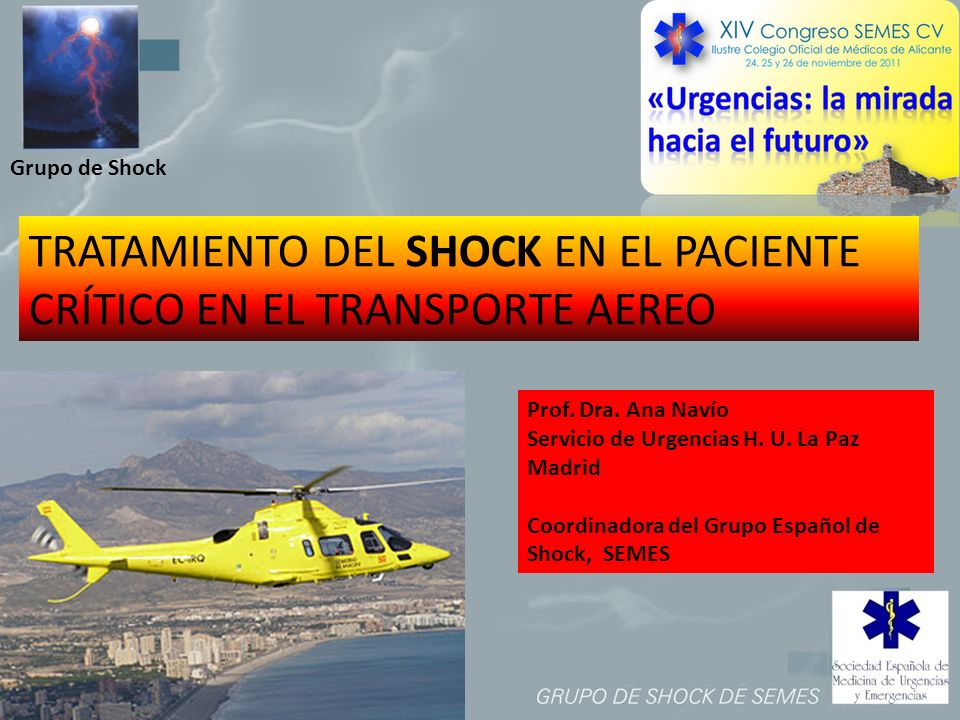 TRATAMIENTO DEL SHOCK EN EL PACIENTE CRÍTICO EN EL TRANSPORTE AEREO