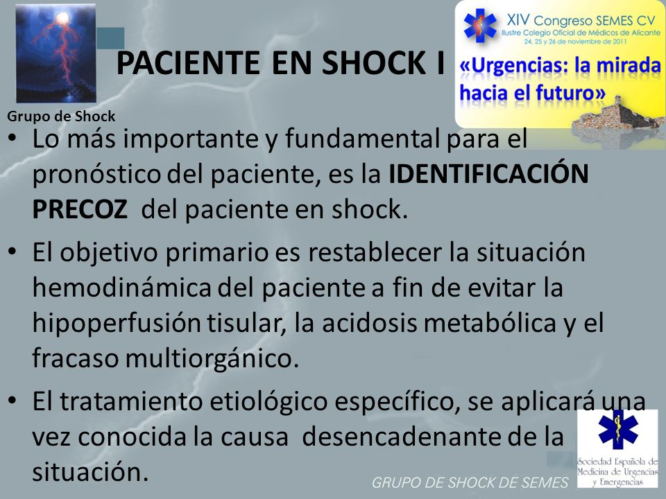 PACIENTE EN SHOCK I Grupo de Shock.