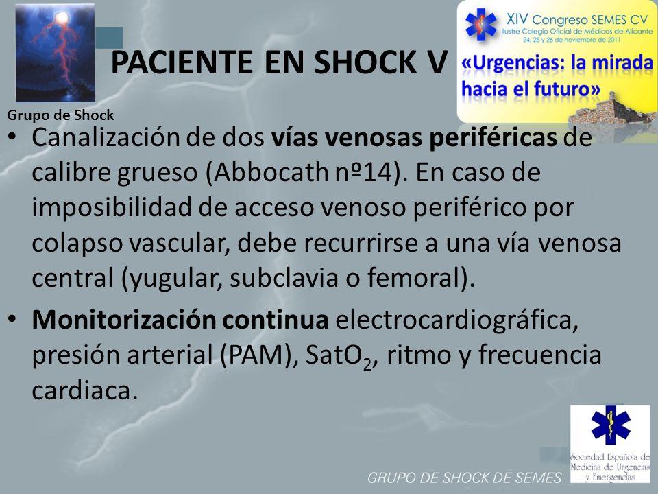 PACIENTE EN SHOCK V Grupo de Shock.