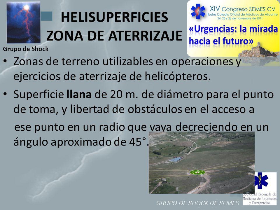 HELISUPERFICIES ZONA DE ATERRIZAJE
