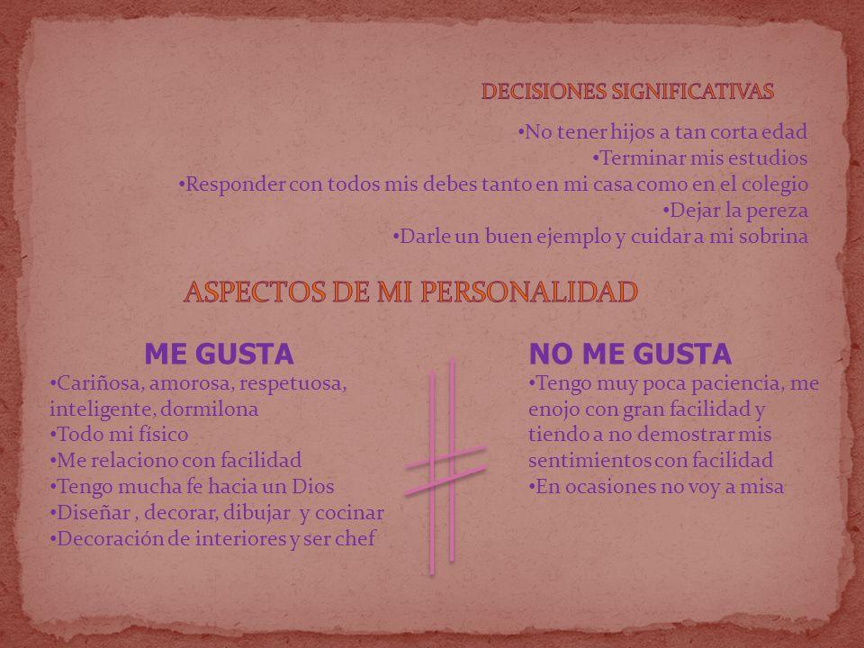 ASPECTOS DE MI PERSONALIDAD