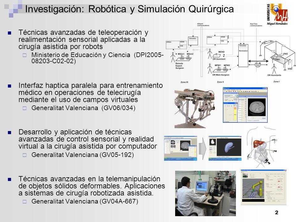 Investigación: Robótica y Simulación Quirúrgica