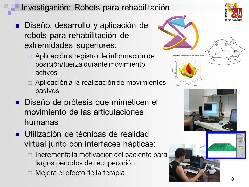Investigación: Robots para rehabilitación