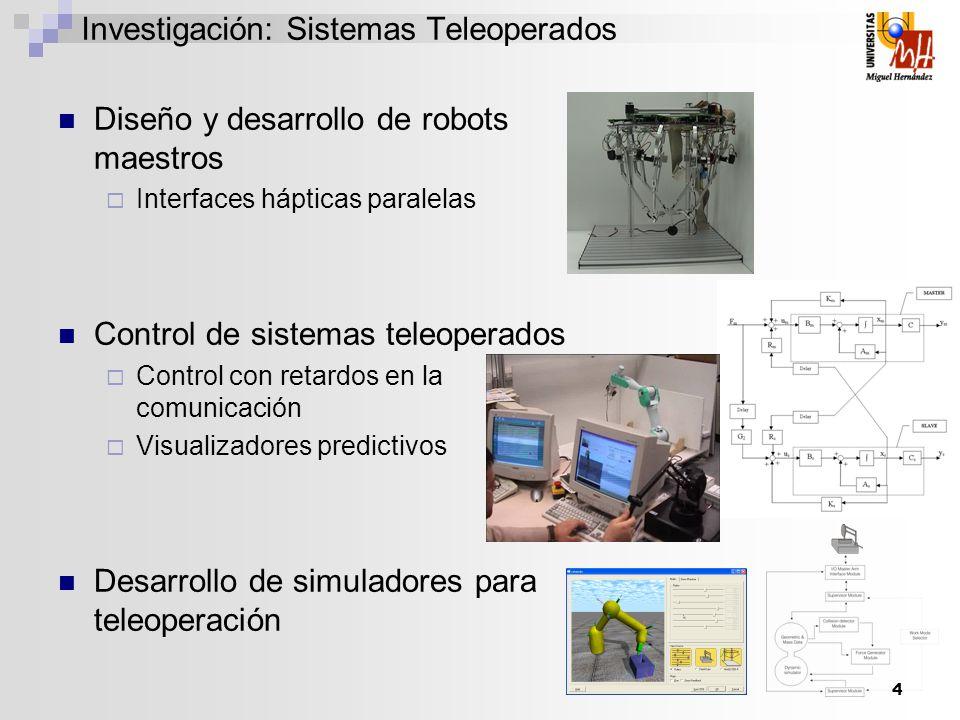 Investigación: Sistemas Teleoperados