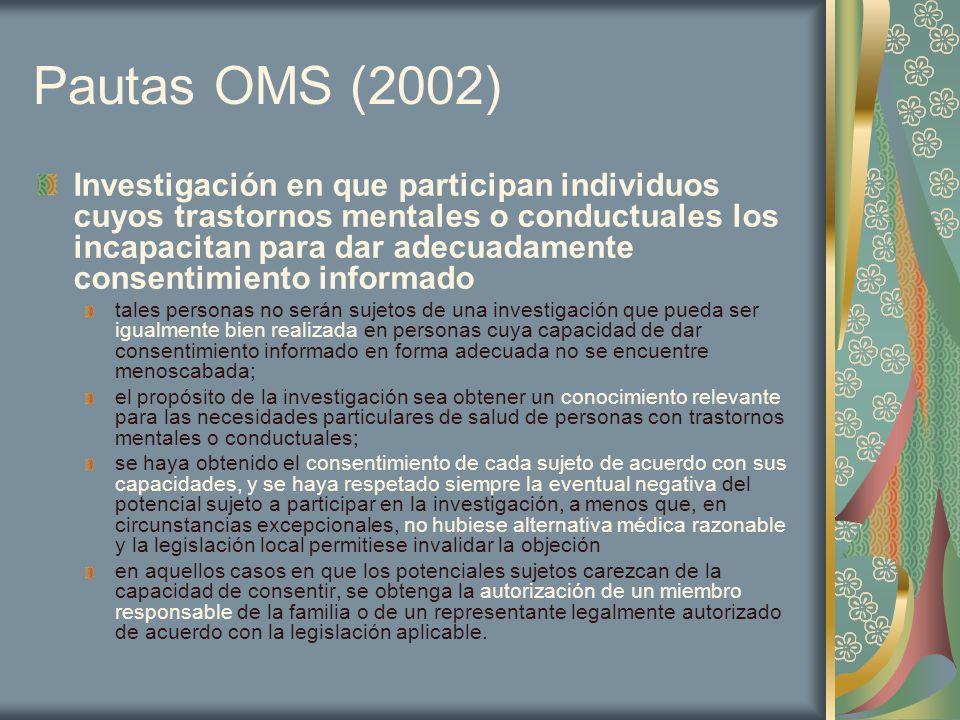Pautas OMS (2002)