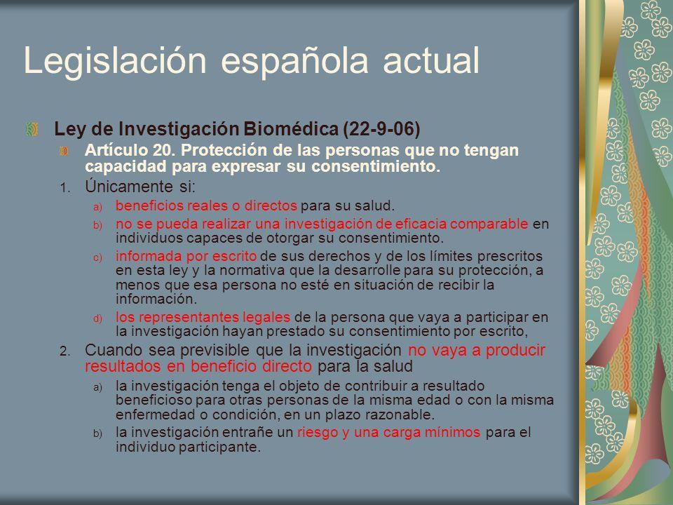 Legislación española actual